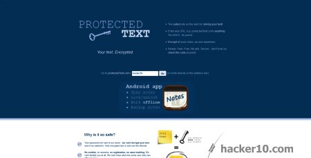 ProtectedText online text encryption