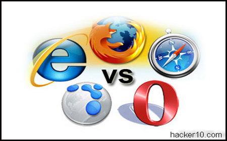Internet browser logos