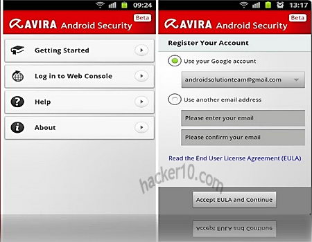 Avira Android security suite