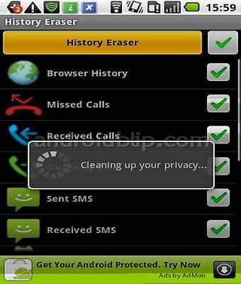 Android app History Eraser