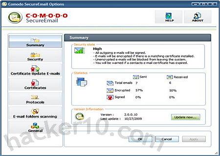 Comodo email digital certificate