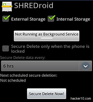 SHREDroid Android data wiper