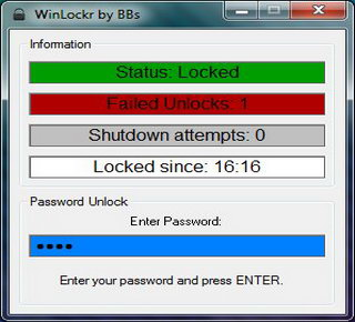 WinLockr to lock Windows desktop