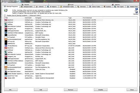 WinPatrol system monitoring tool
