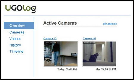 Remotely monitor your home with a webcam using UGOlog