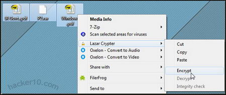 Lazar Crypter Windows file encryption