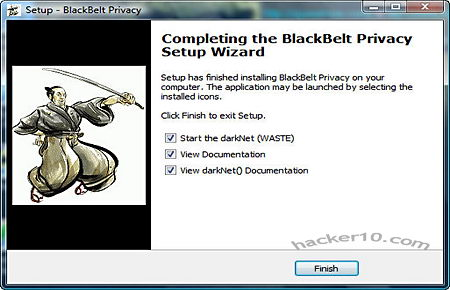 BlackBeltPrivacy P2P over tor proxy network