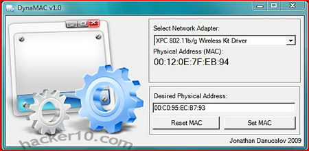DynMAC free MAC address changer
