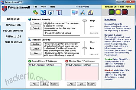 Windows firewall alternative Privatefirewall