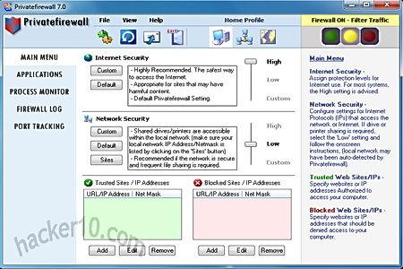 Windows firewall alternative Privatefirewall