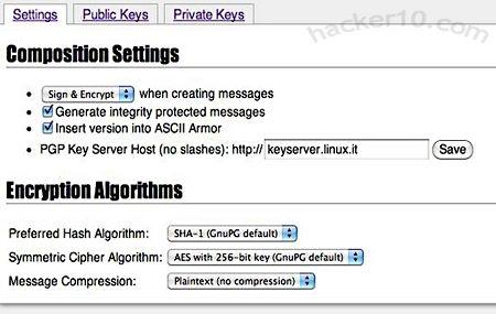 OpenPGP.js webmail OpenPGP encryption