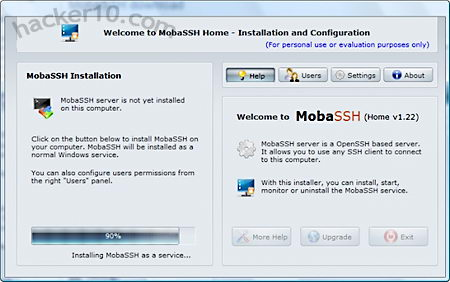 MobaSSH Windows SSH server