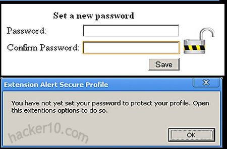 Google Chrome Secure Profile addon