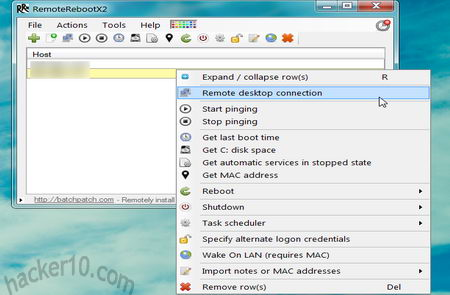 Computer management RemoteRebootX