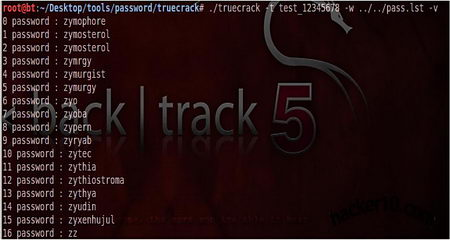 Brute force a Truecrypt volume with TrueCrack | Hacker 10