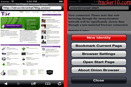 iPhone anonymous Internet with the Onion Browser | Hacker 10