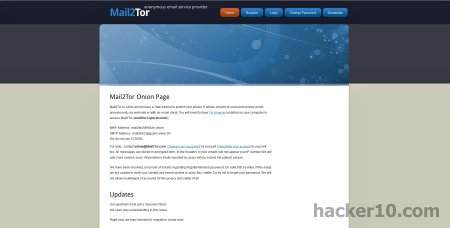 Encrypted Tor email service Mail2Tor