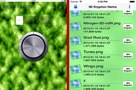 iOS iPhone encryption Kryptos