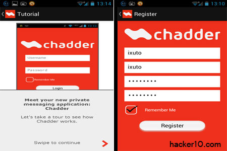 Private messaging app Chadder