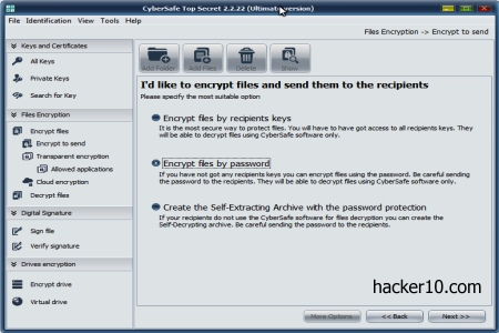 CyberSafe Top Secret file encryption