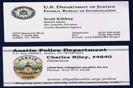 FBI agent Scott Kibbey and Charles Riley