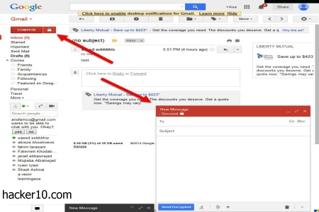 encrypted Gmail messages SecureGmail