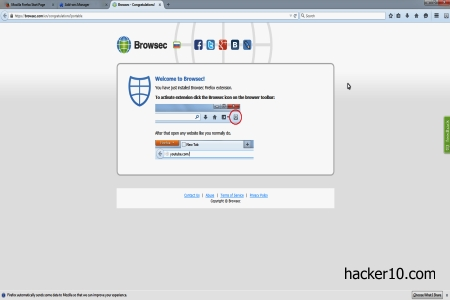 Browsec anonymous surfing Firefox addon