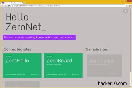 Decentralised P2P webhost Zeronet